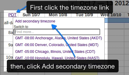How do I add a second time zone?