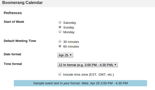 How do I customize date and time format?
