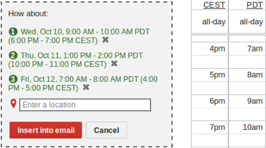 Scheduling meetings across different timezones