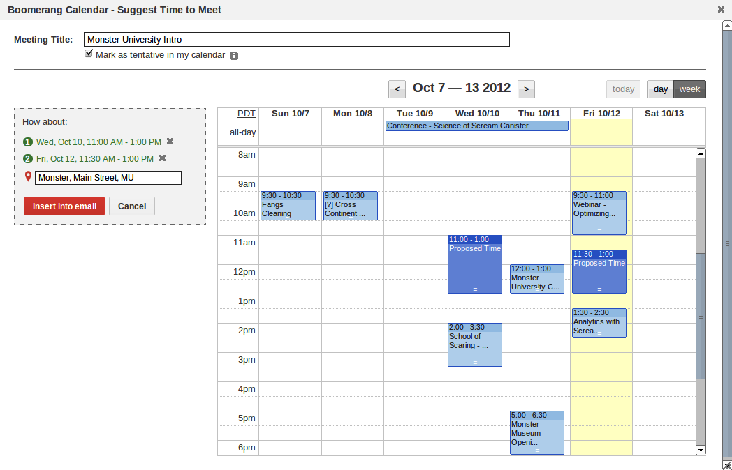 smart calendar assistant for gmail